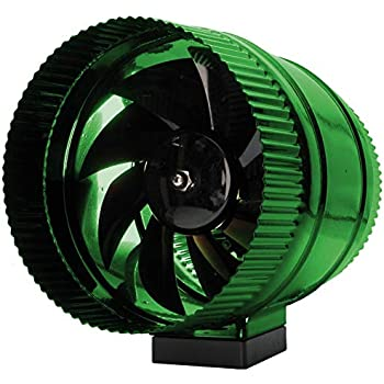Hydrofarm Active Air ACFB8 8-Inch Booster line Fan, Stainless Steel