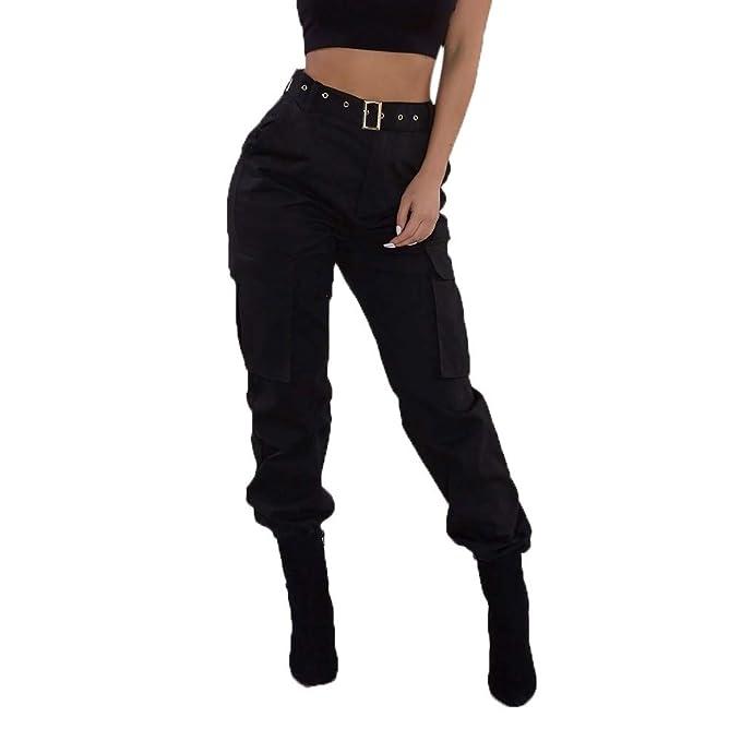 b270b96370371e Kobay Donna Cargo Pantaloni Casual Militari dell'Esercito di Combattimento  Solid Pantaloni Tasca dei Pantaloni( ,): Amazon.it: Abbigliamento