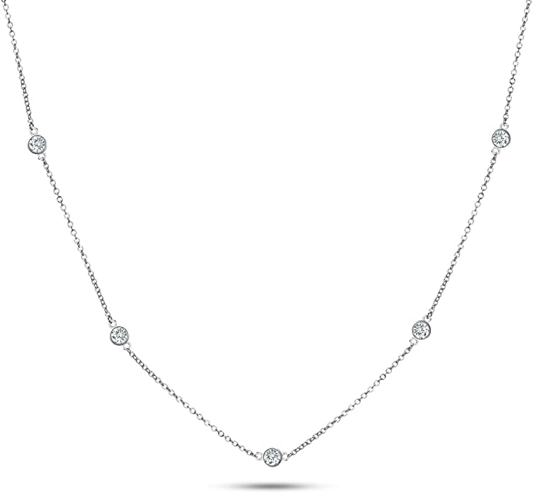 Solid 925 Sterling Silver 4-5mm and 7-8mm Freshwater Cultured Pearl CZ Cubic Zirconia Music Pendant Necklace Charm Chain 17