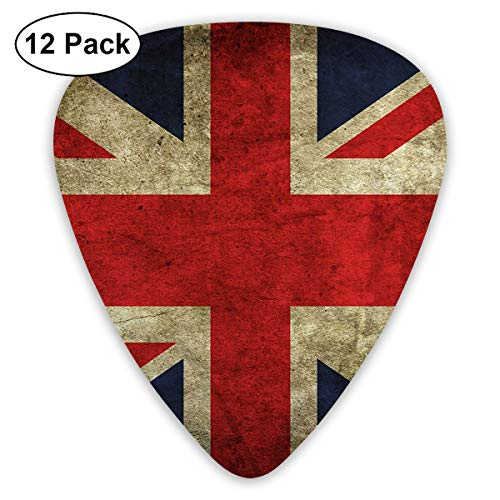 V5DGFJH.B UK Flag Classic Guitar Pick Player's Pack for Electric Guitar,Acoustic Guitar,Mandolin,Guitar Bass ()