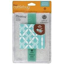 "Cuttlebug 5""X7"" Embossing Folder/Border Set-Anna Griffin Climbing Rose"