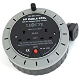 Eurosonic 2 WAY 5M CABLE EXTENSION REEL LEAD MAINS SOCKET HEAVY DUTY 10 AMP ELECTRICAL