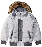 Steve Madden Little Girls' Fashion Outerwear Jacket (More Styles Available), Fashion Bomber/Silver Gray, 6X