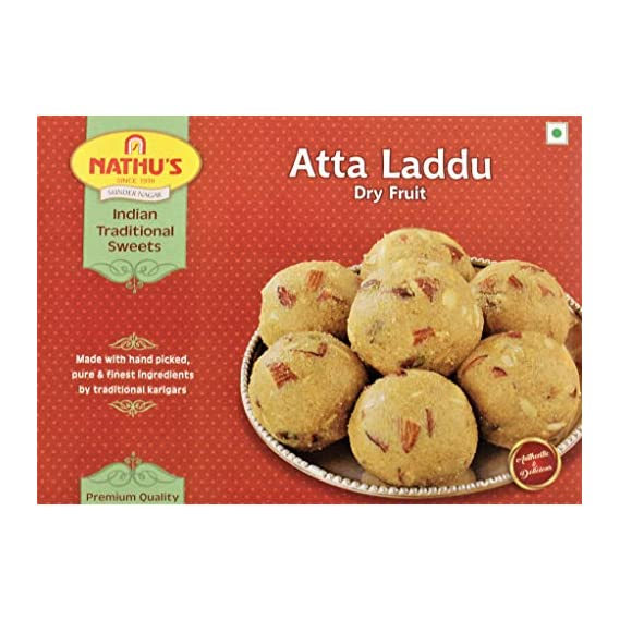Nathu Sweets Atta Ladoo Dry Fruit (500gms)