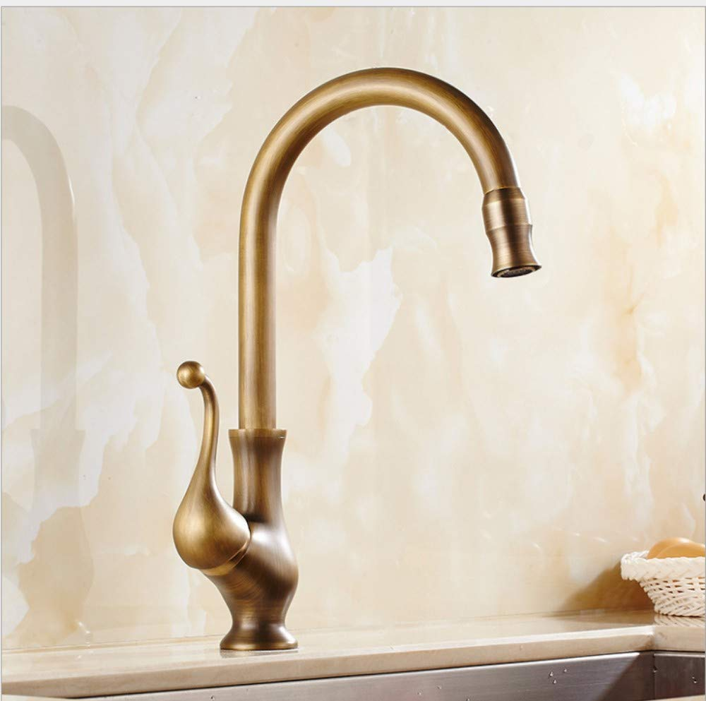 Bathroom Sink Basin Lever Mixer Tap High-Grade Faucet in Antique European Style Cold and Hot Kitchen