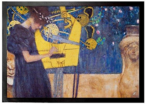 Gustav Klimt Door Mat Floor Mat - The Music, 1895 (28 x 20 inches)