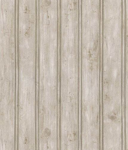 Brewster 402-41389 Kitchen and Bath Resource II Beadboard Wallpaper, 20.5-Inch by 396-Inch, - Panel Beadboard