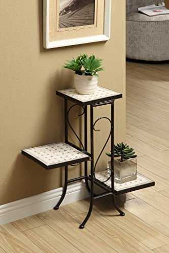 - 4D Concepts 3 Tier Travertine Plant Stand