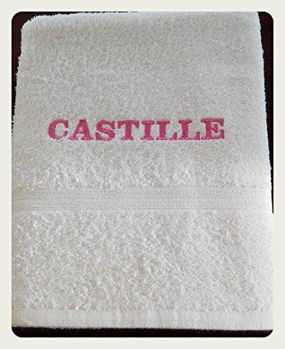 Toalla de baño bordado personalizable nombre