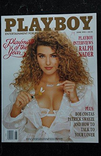 PLAYBOY US 1992 06 BOB COSTAS PATRICK SWAYZE HOW TO TALK TO YOUR LOVER Angela Melini Corinna Harney Ralph Nader