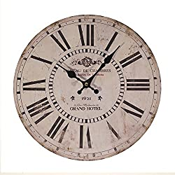 13 Grand Hotel Antique Inspired Wall Clock with Roman Numerals