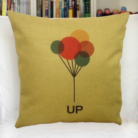 Custom colourful balloon up Background Squre Pillow Case 18 x 18 Inch Cotton linen material Zippered Throw Pillow Cover - Lljpcovers Two Side Print]()