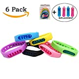 Mosquito Repellent Bracelets, ZALALOVA 6-Packs Natural Deet Free Insect Travel Repellent Wristband Bangle for Kids & Adults Outdoor & Indoor, Barbeque Grilling Against Bugs, Pests with Free replacemnt