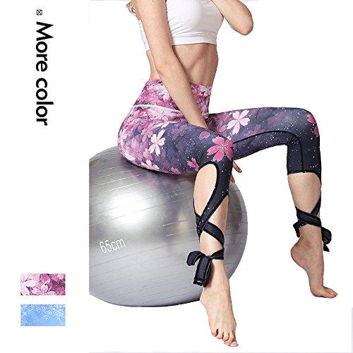 Alsol Lamesa Printed Capri Yoga Pants for Women Ballet Gym Workout Leggings