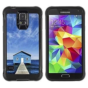 Pulsar Defender Series Tpu silicona Carcasa Funda Case para SAMSUNG Galaxy S5 V / i9600 / SM-G900F / SM-G900M / SM-G900A / SM-G900T / SM-G900W8 , Lake Chalet