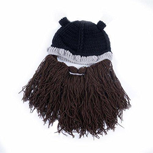 Bearded Gorras Invierno Beanie Halloween Brown Gorros Punto Sombreros Unisex Gorras Gracioso De Vagabond H60Sqn
