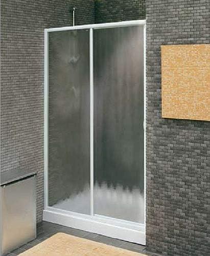 Cabina de ducha Euro10 ED/4 puerta corredera blanca + acrílico 1095-1205 mm: Amazon.es: Bricolaje y herramientas