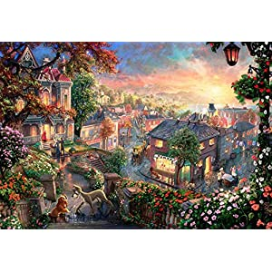 1000 Pieces Jigsaw Puzzle for Adults Kids – Vintage Paintings Landscape Puzzle,Funny Family Games,Home Decoration