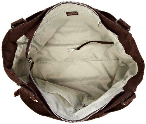 Kipling Sarande N Damen Schultertaschen, 28x45x16.5 cm (B x H x T) Beige (Expresso Brown)