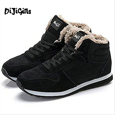 DingXiong Arrival Fashion Men Winter Boots Keep Warm Plush Ankle Boot Snow Work Shoes Outdoor Casual