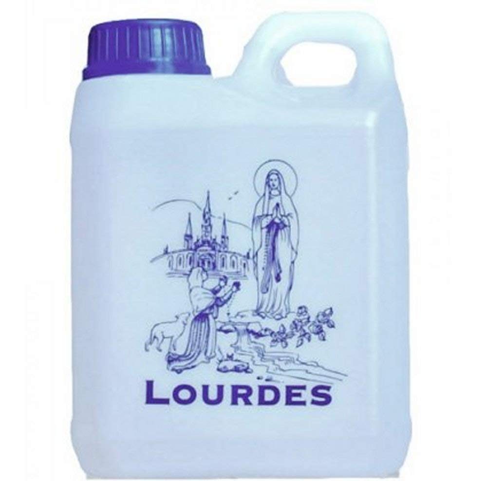 Lourdes Holy Water in 1 Liter Container (0.264 Gallons)