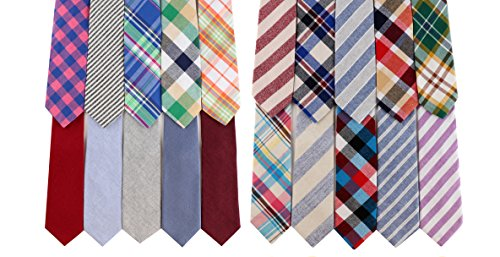 Knot-Society-Mens-Bundle-of-20-Cotton-Ties-275-Width