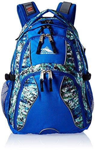 Headphone Sierra High - High Sierra Swerve Backpack, Python/Vivid Blue/Black