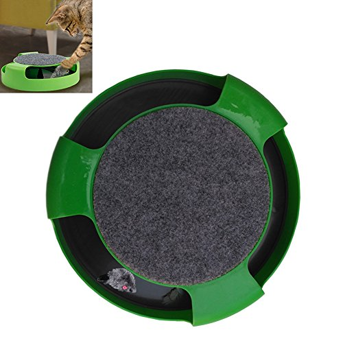 Magic Paw Catch The Mouse Cat Toy Interactive Indoor Kitten and Cat Scratcher Catnip Toy (Green)