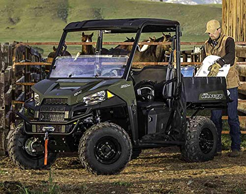 Polaris Poly 2-Seat Sport Roof with Lock /& Ride Technology Black