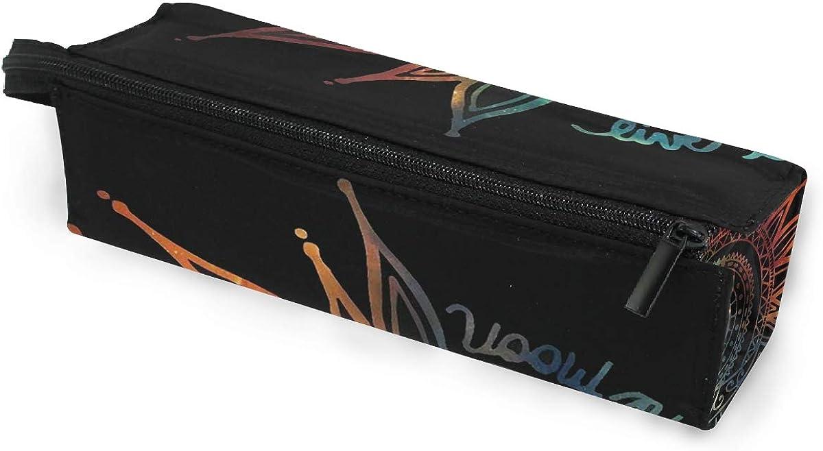 SLHFPX Sun Moon Illustration Glasses Case Portable Soft Sunglasses Ball Pen Bag Protective Holder