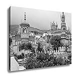 Ashley Canvas Exterior Of Colomares Castle Benalmadena Town Spain, Wall Art Home Decor, Ready to Hang, Black/White, 16x20, AG6378307