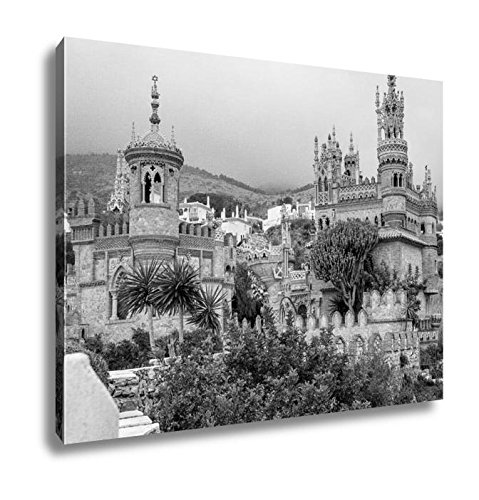 Ashley Canvas Exterior Of Colomares Castle Benalmadena Town Spain, Wall Art Home Decor, Ready to Hang, Black/White, 16x20, AG6378307 by Ashley Canvas