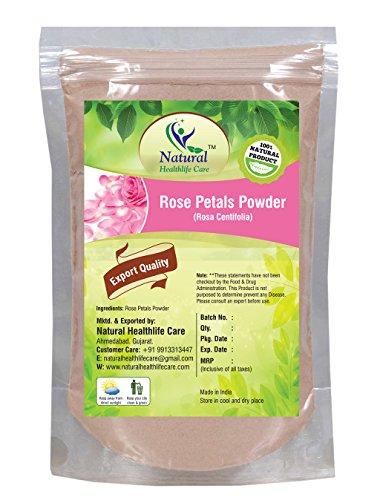 - 100% Pure Rose Petals Powder (Rosa Centifolia) for Facial Mask Formulation (100 gm/(0.22 lb)/3.5 ounces)