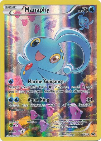 Manaphy Plush - Pokemon - Manaphy (XY113) - XY Black Star Promos - Holo