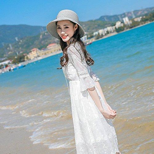 S Peu Robes Jupe White de Robe Femme d't Frais MiGMV Mousseline Hdq7zH8