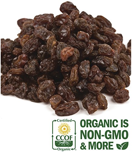 SweetGourmet Organic Select Sun-Dried Thompson Raisins with oil (5Lb)