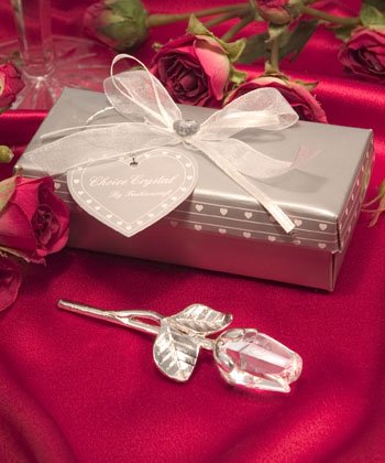 Choice Crystal Long Stem Rose (Set of 20) - Wedding Party Favors