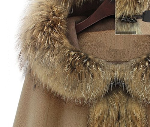 Capucha De Con Mujeres Moda Color Camello Invierno De Casual Para Abrigada WanYang Abrigos Sólido Mujer De Capa Chaqueta 1AFfSq