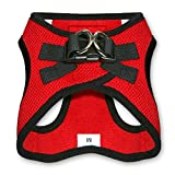Voyager Step-In Air Dog Harness - All Weather Mesh, Step In Vest Harness for Small and Medium Dogs by Best Pet Supplies - Red Base, Medium