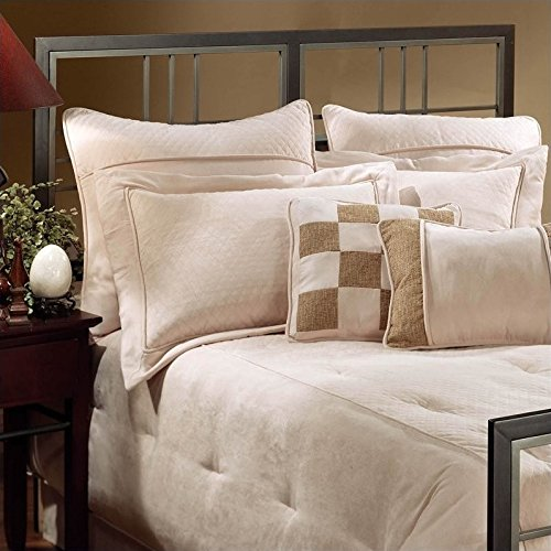 Tiburon Queen Bed - Hillsdale Tiburon Spindle Headboard in Magnesium Pewter-King - King
