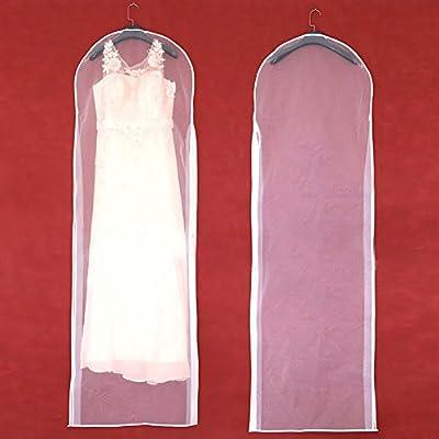Funda antipolvo para vestido de novia con cremallera para el hogar ...