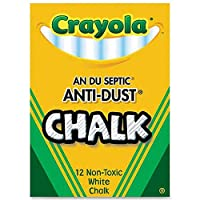 Crayola BIN1402BN Anti-Dust Chalk, White, 12 Sticks Per Box, 24 Boxes