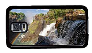 Hipster Samsung Galaxy S5 Case fancy zambezi river victoria falls PC Black for Samsung S5