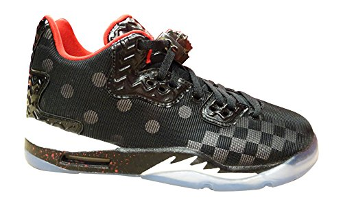 Nike Air Jordan Spike Forty Low BG Basketball Trainers 833460 Sneakers Shoes (6 M US, black gym red wolf grey cool grey 005)