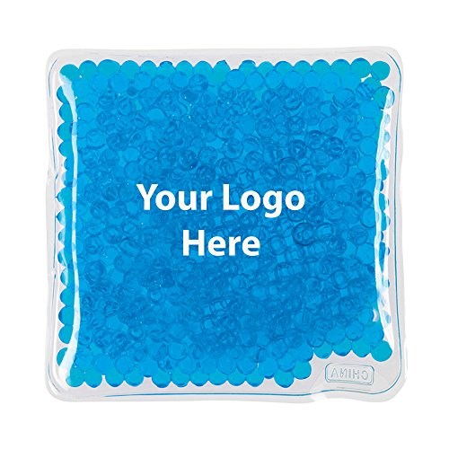 Logo Beads - Square Gel Beads Hot/Cold Pack - 100 Quantity - 1.65 Each - PROMOTIONAL PRODUCT/BULK/BRANDED with YOUR LOGO/CUSTOMIZED