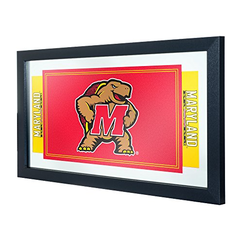 (NCAA Maryland Logo and Mascot Framed Mirror)