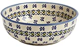 "Polish Pottery Olive Flower Round Mixing Bowl, 8.25"" Diameter (42-oz. Capacityi)"