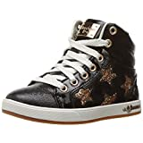Skechers Kids Girls' Shoutouts-84320L Sneaker, Black/Gold, 1 M US Little Kid