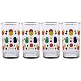 fiesta colors - Fiesta Cobalt Dot 7-Ounce Juice Glass (Set of 4)