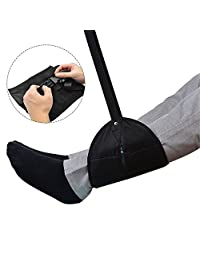 Foot Rest Hammock, Portable Flight Hanging Footrest Adjustable Legrest for Home Office Travel Accessories